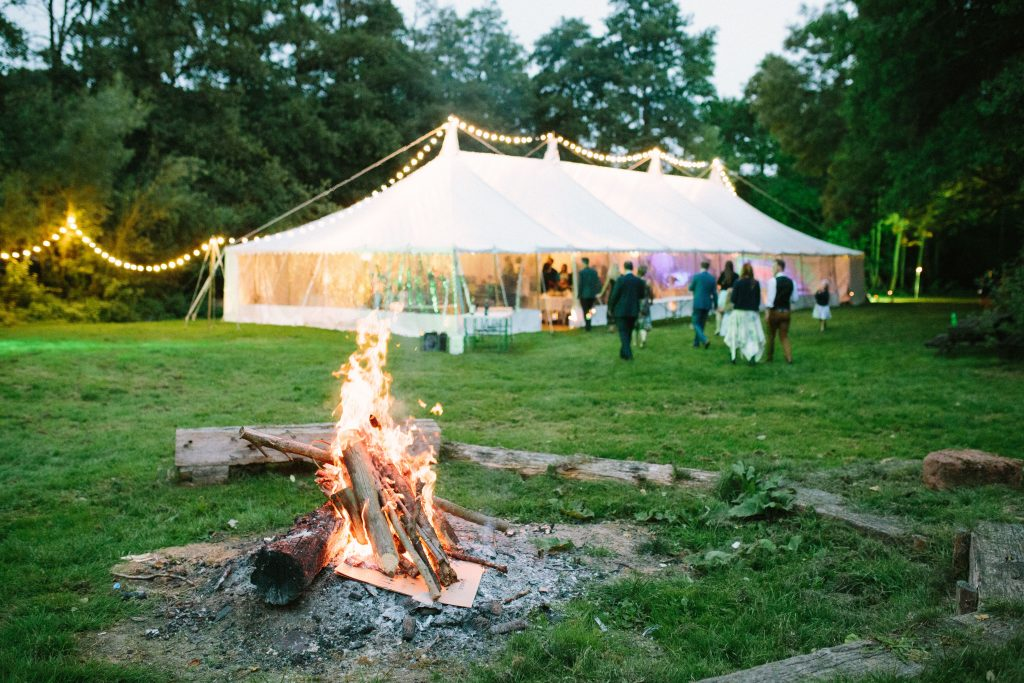 Traditional Marquee at Radford Mill, built by Archers Marquees