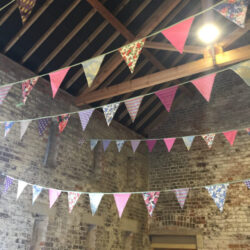 Festival Bunting in a Barn by the Big Beautiful Bunting Co