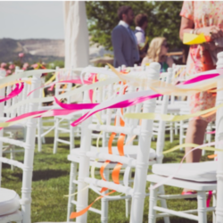Ribbons on chiavari chairs